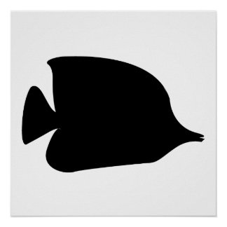 Needle Nose Fish Silhouette Poster