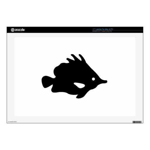 "Needle Nose Fish Silhouette 17"" Laptop Skins"
