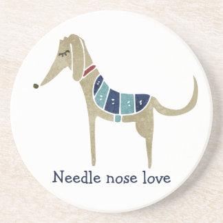 Needle nose love coaster