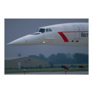 Needle nose of a British Airways Concorde Poster