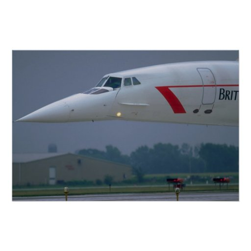 Needle nose of a British Airways Concorde Print