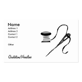 Needle/Spool Business Card