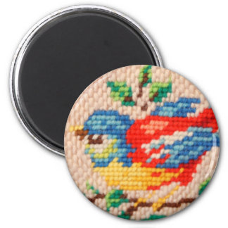 needlepoint bird magnet