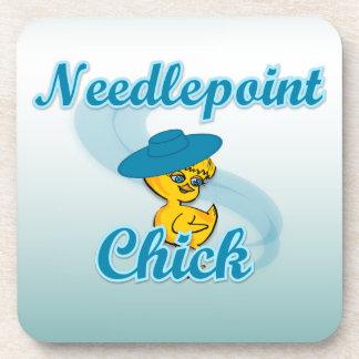 Needlepoint Chick 3 Coaster