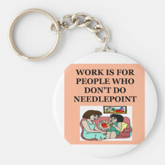 NEEDLEpoint gifts t-sirts Keychain