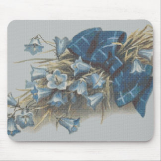 Needlepoint Style Blue Bells Mouse Pads