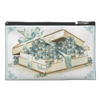 Needlepoint Style Gift Box Travel Accessory Bag