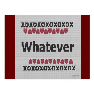 Needlepoint - Whatever Postcard