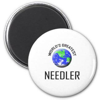 Needler más grande del mundo imán redondo 5 cm