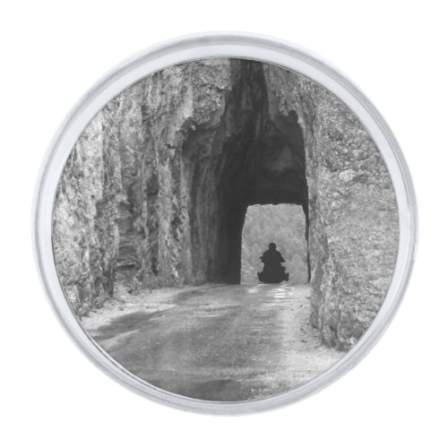 Needles Highway Tunnel Silver Finish Lapel Pin