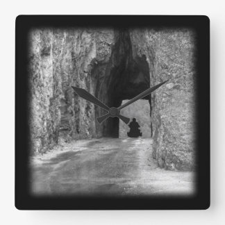 Needles Highway Tunnel Square Wall Clock