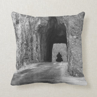 Needles Highway Tunnel Throw Pillow