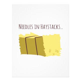 Needles In Haystacks Personalized Letterhead