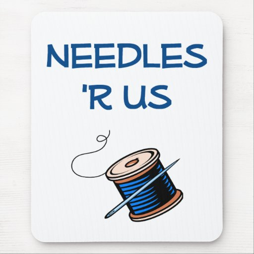 Needles R Us Seamstress Mouse Pad