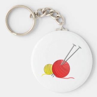 Needles & Yarn Basic Round Button Keychain