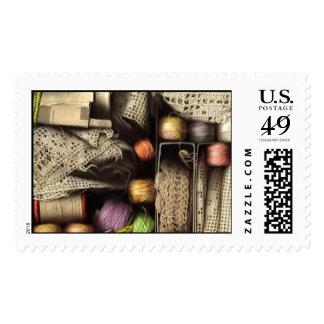 Needlework Box Stamp