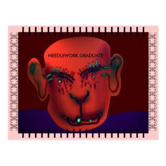 Needlework graduate postcard