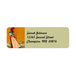 Needlework Knitting Crochet Return Address Labels