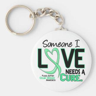 NEEDS A CURE 2 CELIAC DISEASE T-Shirts & Gifts Keychain