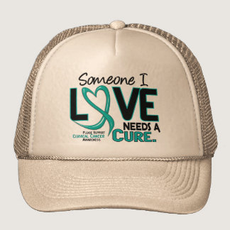 NEEDS A CURE 2 CERVICAL CANCER T-Shirts & Gifts Trucker Hat