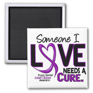 NEEDS A CURE 2 CROHN'S DISEASE T-Shirts & Gifts 2 Inch Square Magnet