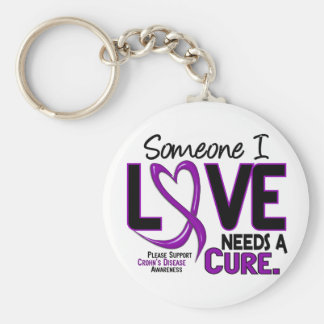 NEEDS A CURE 2 CROHN'S DISEASE T-Shirts & Gifts Keychains