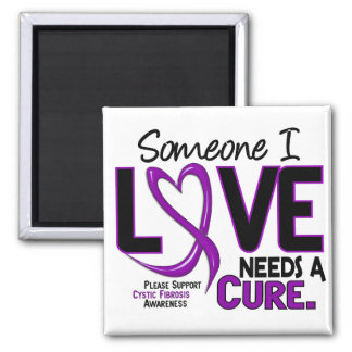 NEEDS A CURE 2 CYSTIC FIBROSIS T-Shirts & Gifts 2 Inch Square Magnet