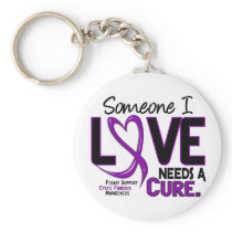 NEEDS A CURE 2 CYSTIC FIBROSIS T-Shirts & Gifts Keychain
