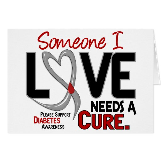 NEEDS A CURE 2 DIABETES T-Shirts & Gifts Greeting Cards