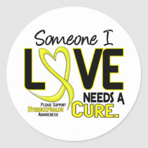Needs A Cure 2 Hydrocephalus Classic Round Sticker