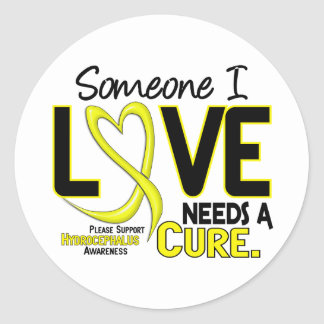 Needs A Cure 2 Hydrocephalus Round Stickers