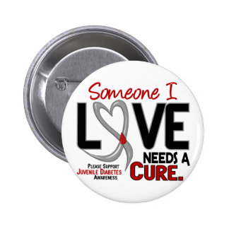 NEEDS A CURE 2 JUVENILE DIABETES T-Shirts & Gifts Pinback Buttons
