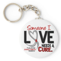 NEEDS A CURE 2 JUVENILE DIABETES T-Shirts & Gifts Keychain