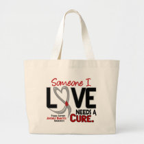 NEEDS A CURE 2 JUVENILE DIABETES T-Shirts & Gifts Large Tote Bag