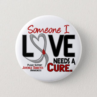 NEEDS A CURE 2 JUVENILE DIABETES T-Shirts & Gifts Pinback Button