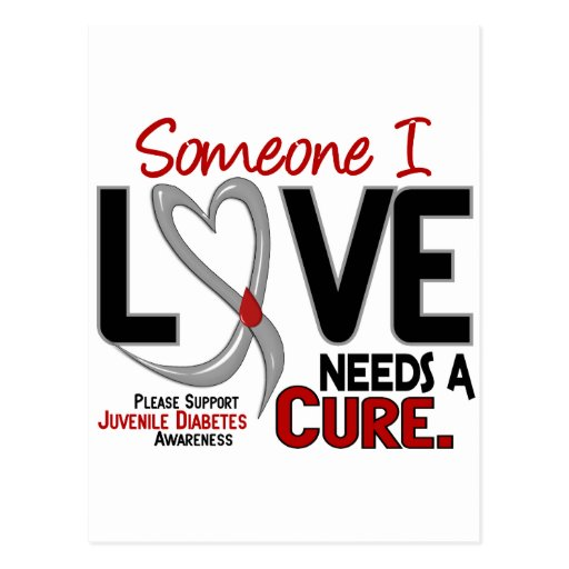 NEEDS A CURE 2 JUVENILE DIABETES T-Shirts & Gifts Postcard