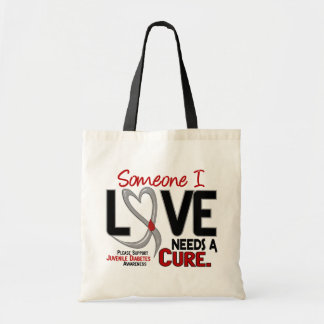 NEEDS A CURE 2 JUVENILE DIABETES T-Shirts & Gifts Tote Bag