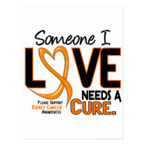 NEEDS A CURE 2 KIDNEY CANCER T-Shirts & Gifts Postcard