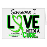NEEDS A CURE 2 MUSCULAR DYSTROPHY T-Shirts & Gifts Greeting Cards