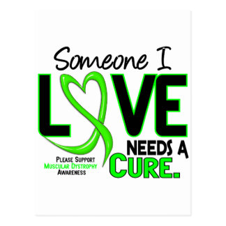 NEEDS A CURE 2 MUSCULAR DYSTROPHY T-Shirts & Gifts Postcard