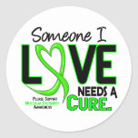 NEEDS A CURE 2 MUSCULAR DYSTROPHY T-Shirts & Gifts Round Stickers