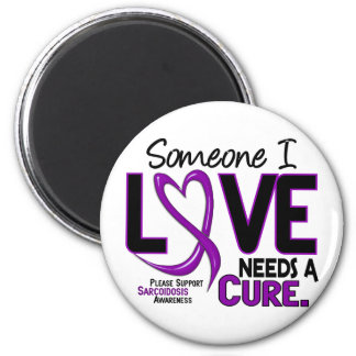 NEEDS A CURE 2 SARCOIDOSIS T-Shirts & Gifts 2 Inch Round Magnet