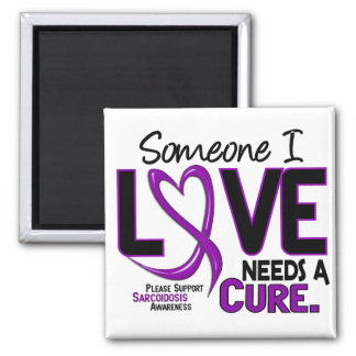 NEEDS A CURE 2 SARCOIDOSIS T-Shirts & Gifts 2 Inch Square Magnet