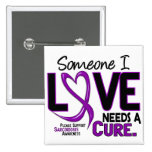 NEEDS A CURE 2 SARCOIDOSIS T-Shirts & Gifts 2 Inch Square Button