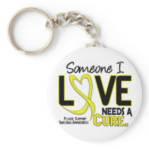 NEEDS A CURE 2 SARCOMA T-Shirts & Gifts Keychain