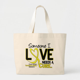 NEEDS A CURE 2 TESTICULAR CANCER T-Shirts & Gifts Large Tote Bag