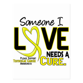 NEEDS A CURE 2 TESTICULAR CANCER T-Shirts & Gifts Postcard