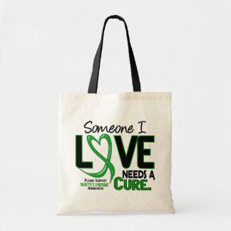 Needs A Cure 2 Tourette's Syndrome Canvas Bags