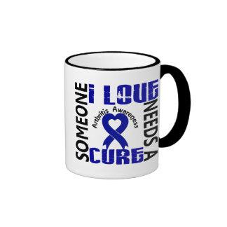 Needs A Cure 4 Arthritis Ringer Coffee Mug