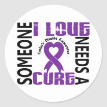 Needs A Cure 4 Crohn's Disease Classic Round Sticker